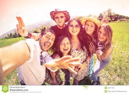 Best Friends Taking Selfie At Countryside Picnic Stock Photo Image