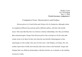comparative essay metamorphosis and oedipus a level classics document image preview