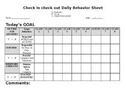 Daily Behavior Tracking And Home Communication Sheet