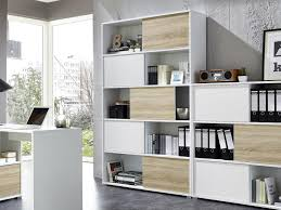 office bookcases with doors. IN STOCK \u0026 READY TO GO Modern Slide Tall Shelving Unit In White Light Oak Office Bookcases With Doors