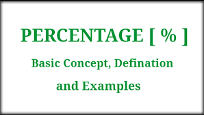 Basic Concep Percentage Basic Concept Defination And Examples Maths