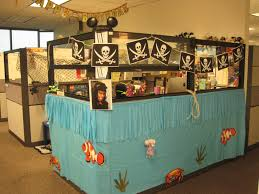 accessoriesexcellent cubicle decoration themes office. Office Cubicle Decor Energizing Your Daily Productivity Interesting Which Has Several Pirates Symbol Hanged Above The User Photo Accessoriesexcellent Decoration Themes