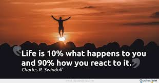 Life Quotes Images Awesome Life Is 48% What Happens To You And 48% How You React To It