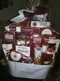 large gift basket filled w gourmet snacks sealed fresh