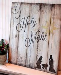 pallet painting ideas christmas. christmas diy: o holy night sign on reclaimed pallet wood by etsy painting ideas