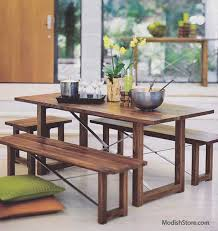 room table displays coaster set driftwood: roost thorson dining table and or benches