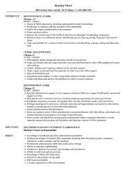 Accounts Payable Clerk Resume Examples Receptionist Clerk Resume Samples Velvet Jobs 39