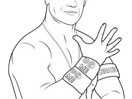 Free Printable John Cena Coloring Pages Wwe Colouring Amp Pictures