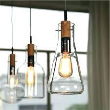 pendant lights oversized glass pottery barn seeded interesting light