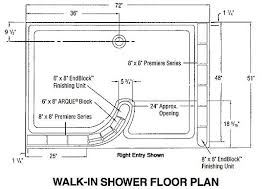 delicious walk in shower floor plans