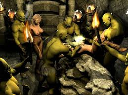 bunch of orcs gang banging a lovely elf girl