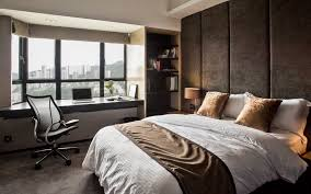 Bedroom, Interesting Bedroom Design With Wall And Ceiling Beige Padded Wall  Panels Mixed With Flooring