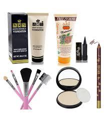adbeni pact lipliner scrub foundation brush kajal pack of 6 premium