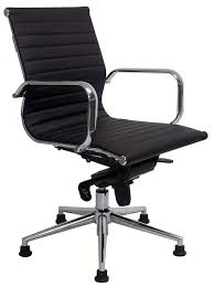 guest chair. modern classic leather swivel guest chair on glides - black, white, red and brown