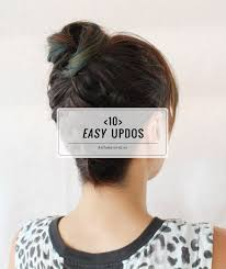 10 easy updos you can actually do with 2 hands
