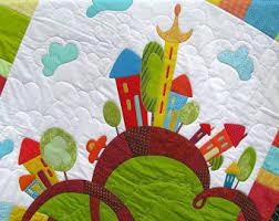 Baby quilt patterns | Etsy & Quilt Pattern - Happy houses - PDF Quilt Pattern - Applique Pattern - Baby  Quilt Pattern Adamdwight.com
