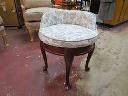 vintage antique french style walnut vanity chair 125