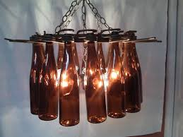 beer bottle chandelier diy ideas