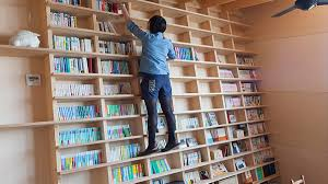 Japanese Bookcase Design Japanese Architect Designs Slanted Book Cases You Can Climb