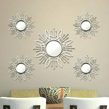 home decor wall mirrors 5 piece burst wall mirror set home depot wall decor mirrors