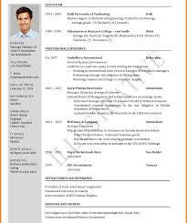 Latest Resume Format Latest Resume Format For Experienced Free