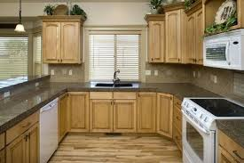 maple cabinets kitchen tidy compact with dark grey counters white