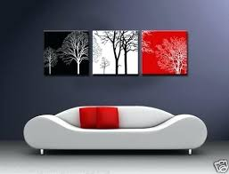 black white red wall art modern abstract wall canvas art oil painting black white red tree on black and white with a splash of red wall art with black white red wall art modern abstract wall canvas art oil