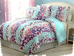 girls kids bedding ashley leopard multi colored comforter set