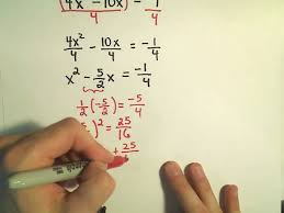completing the square to solve quadratic equations more examples 4 you