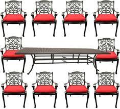 cast aluminum patio dining set nassau
