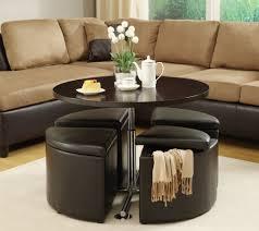 storage ottoman coffee table round ideas