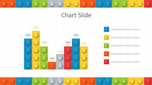 Chart Of Lego Pieces Lego Powerpoint Template Slidemodel