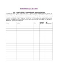 Fundraiser Sign Up Sheet Template Photos Political In Free Printable