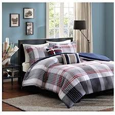 grey plaid comforter. Perfect Comforter Red Blue Grey Plaid Comforter Boys Teen Bedding Set Pillow Fullqueen With