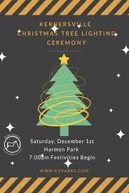 Christmas Tree Lighting Ceremony 2018 Town Of Kernersville