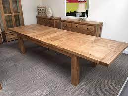 oxford solid oak extending dining table ft oak furniture oakita