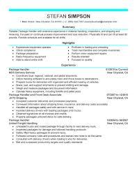 Material Handler Job Description For Resume Material Handling