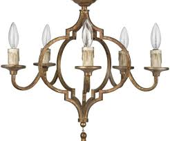 cine french country antique gold arabesque 5 light chandelier kathy kuo home