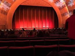 Radio City Music Hall Section Orchestra 5 Row G Seat 507