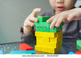 Game Played With Wooden Blocks Triangle Wooden Blocks Shape Toy On Stock Photo 100 37
