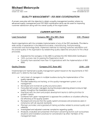 Food Quality Manager Resumes Applying For A Job Resume