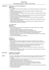 Lab Tech Resume Samples Velvet Jobs