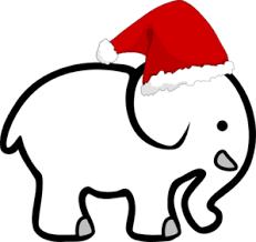 christmas elephant clip art. Interesting Christmas White Elephant With Santa Hat Clip Art On Christmas T