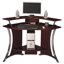 Furniture:Small Corner Computer Desk For Home With Drawers And Bookshelves  Ideas Small Elegant Corner