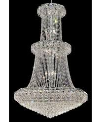 huge crystal chandelier intended for best and newest elegant lighting eca1g42 belenus 42 inch wide 32