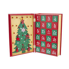 com kurt adler d3045 11 wooden advent calendar book home kitchen