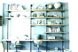 office wall shelf contemporary decoration built in wall shelves and desk luxury home office custom unit