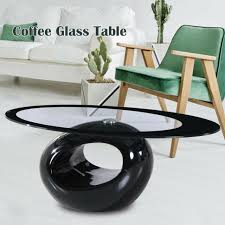 rattan oval coffee table alisa with