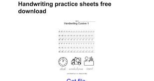 Handwriting practice sheets free download - Google Docs
