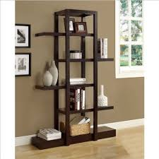 Monarch Specialties I 2541, Bookcase Open Concept, Display Etagere,  Cappuccino, 71